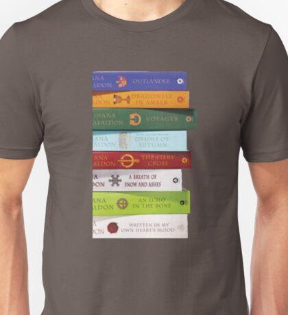 Stack of Outlander books/Diana Gabaldon Unisex T-Shirt