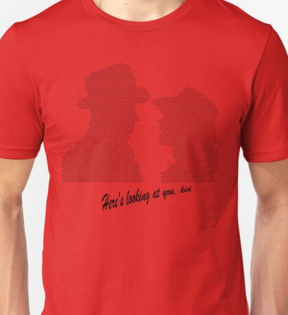 Casablanca Ending Scene Image and Dialogue Unisex T-Shirt