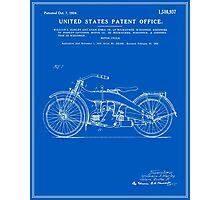 Motorcycle Patent - Blueprint Photographic Print