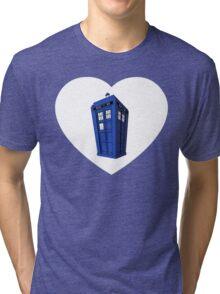 Tardis Heart Tri-blend T-Shirt