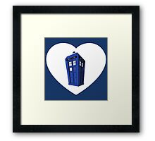 Police Box Heart Framed Print