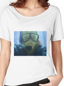 Self portrait, underwater at Ningaloo Reef, WA Women's Relaxed Fit T-Shirt