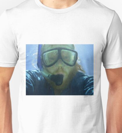 Self portrait, underwater at Ningaloo Reef, WA Unisex T-Shirt