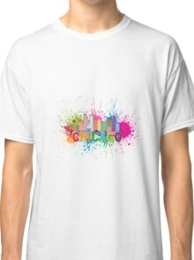Chicago Skyline Paint Splatter Abtract Illustration Classic T-Shirt