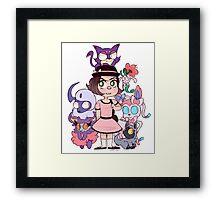 Fairy/dark pokemon team Framed Print