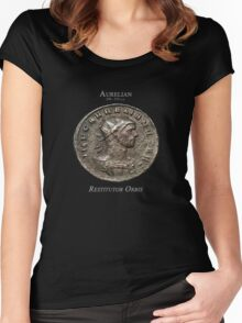 Ancient Roman Coin - RESTITUTOR ORBIS Women's Fitted Scoop T-Shirt