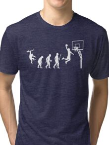 Basketball Evolution Funny T Shirt Tri-blend T-Shirt