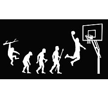 Basketball Evolution Funny T Shirt Photographic Print