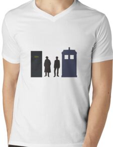 A Study In Time Mens V-Neck T-Shirt
