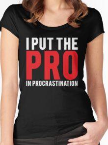 Procrastination Women's Fitted Scoop T-Shirt