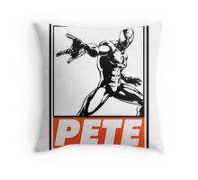 Spider-Man Pete Obey Design Throw Pillow