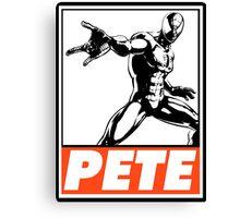 Spider-Man Pete Obey Design Canvas Print