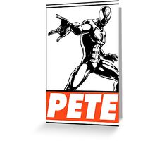 Spider-Man Pete Obey Design Greeting Card