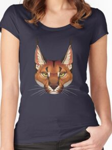 Caracal Face  Women's Fitted Scoop T-Shirt