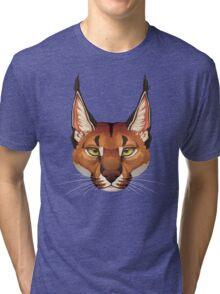Caracal Face  Tri-blend T-Shirt