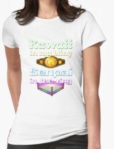 "Official Delilah Hayden""Kawaii VS Senpai"" Design Womens Fitted T-Shirt"