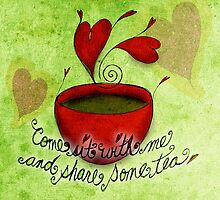 What my #Tea says to me - February 5, 2013 pillow by catsinthebag