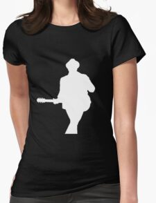 Patrick Stump White Silhouette Womens Fitted T-Shirt