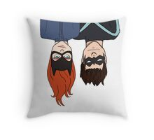 Batgirl & Nightwing  Throw Pillow
