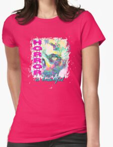 HORROR IS BEAUTIFUL - zombie face Womens Fitted T-Shirt