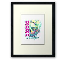 HORROR IS BEAUTIFUL - zombie face Framed Print