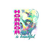 HORROR IS BEAUTIFUL - zombie face Photographic Print