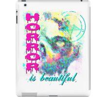 HORROR IS BEAUTIFUL - zombie face iPad Case/Skin