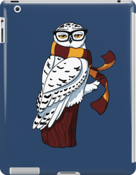 Hipster Owl by Stephanie Whitcomb