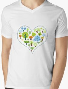 Protect the forests heart Mens V-Neck T-Shirt