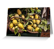 Amalfi Lemons Greeting Card