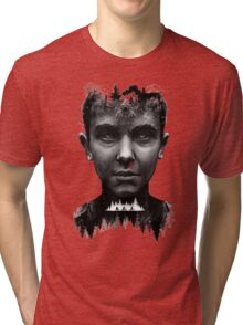 The Upside Down Tribute Painting Art Tri-blend T-Shirt