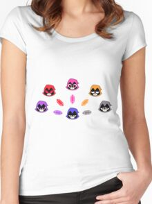 The Many Colors of Raven Vector Women's Fitted Scoop T-Shirt