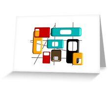 Mid Century Modern Geometric Design Greeting Card