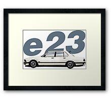 BMW e23 eighties style profile 735i  Framed Print