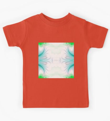 Blue and green abstract pattern background Kids Tee