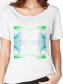Blue and green abstract pattern background Women's Relaxed Fit T-Shirt
