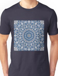 Blue and white abstract pattern background Unisex T-Shirt