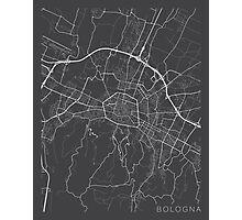 Bologna Map, Italy - Gray Photographic Print