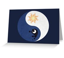 Celestia and Luna Yin Yang Greeting Card