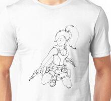 Turanga Leela as Lara Croft Illustration  Unisex T-Shirt
