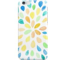 Dewdrops in Blue and Yellow iPhone Case/Skin
