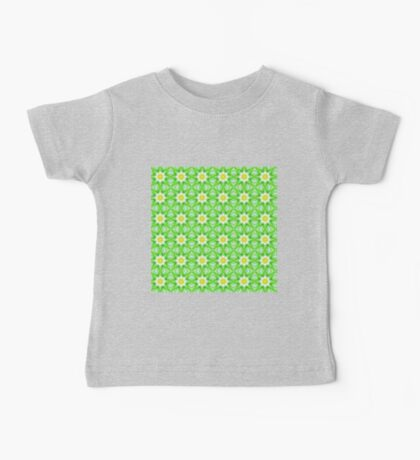 Green and yellow abstract pattern background Baby Tee