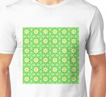 Green and yellow abstract pattern background Unisex T-Shirt