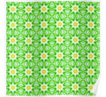 Green and yellow abstract pattern background Poster