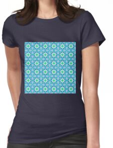 Blue and purple abstract pattern background Womens Fitted T-Shirt