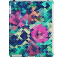 Fruity Rose - Fancy Colorful Abstraction Pattern Design (green pink blue) iPad Case/Skin