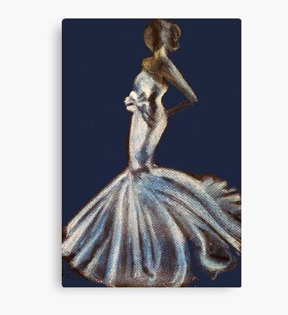 Bride & Bow Canvas Print