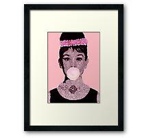 50 shades of Pink-Audrey Hepburn Framed Print