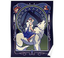 Wolf Princess Nouveau Poster