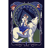 Wolf Princess Nouveau Photographic Print